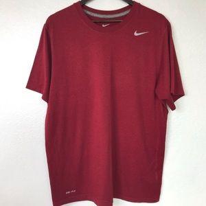 Nike Dri-Fit Red Short Sleeve Shirt
